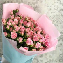 11 роз куст нежные