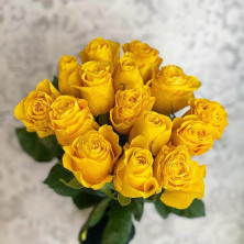 15 жёлтых роз Tara