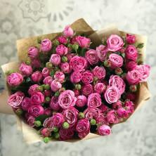 15 роз кустовых бомбастик