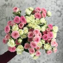 15 роз кустовых микс