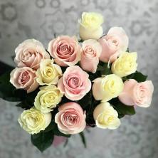 15 роз нежный микс