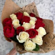 19 роз в крафте