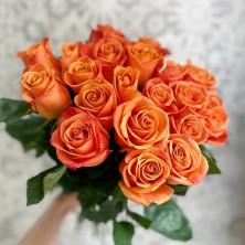 21 роза Orange Crush