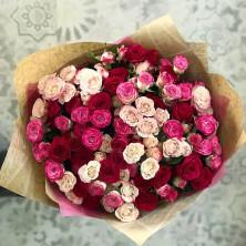 21 роза кустовая микс
