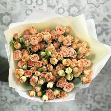 21 роза кустовая крем